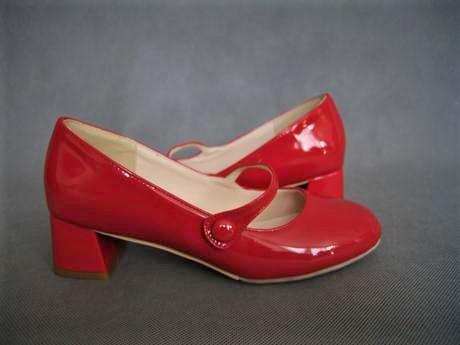 Retro červené lodičky, na objednávku, 34-43, 39