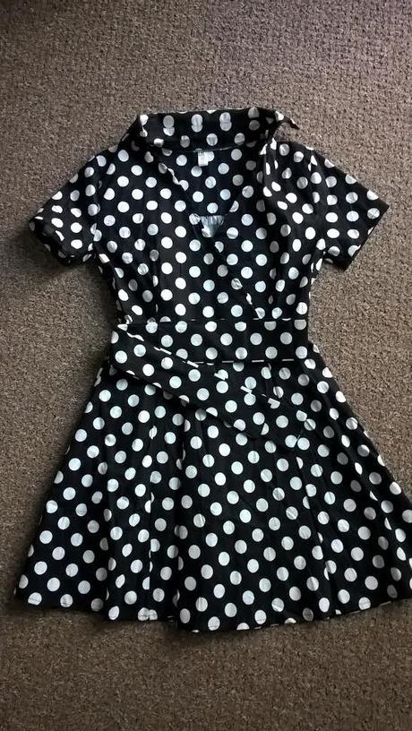 RETRO puntíkaté šaty, ihned k odeslání, 2x, M