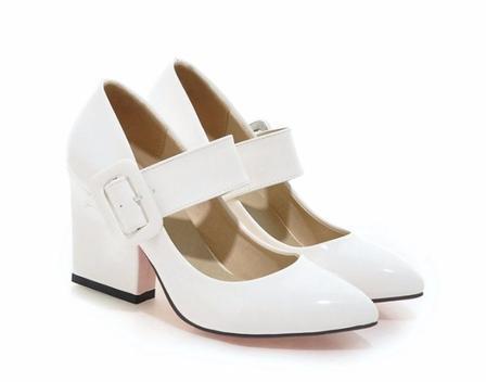 RETRO, Vintage bílé svatební lodičky -34-43- AKCE, 38