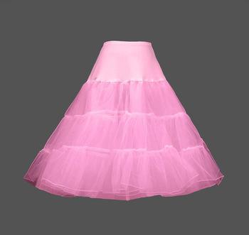 Růžová spodnice pod šaty, styl 50-léta, 122
