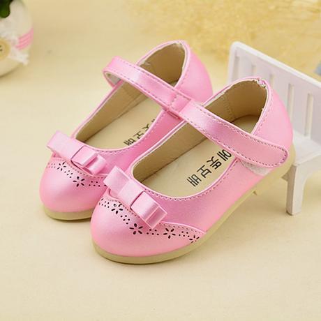 Růžové dětské boty pro družičky, 21-30, 21