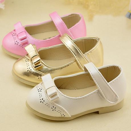 Růžové dětské boty pro družičky, 21-30, 22
