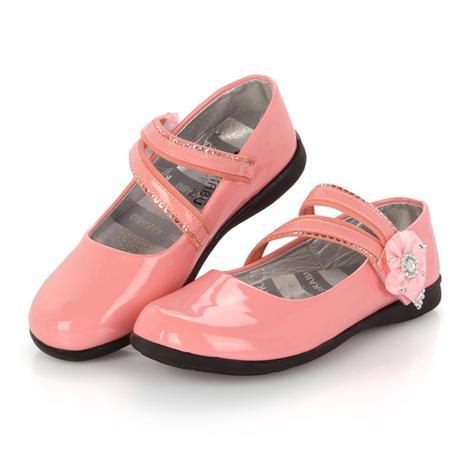 Růžové dětské boty pro družičky, 26-32, 26