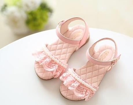 Růžové dětské sandálky, 25-29, 26