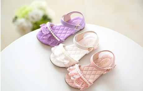 Růžové dětské sandálky, 25-29, 28