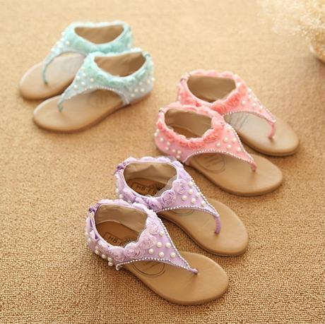 Růžové dětské svatební sandálky, 26-30, 28