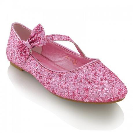 Růžové flitrované baleríny, 36-41, 39