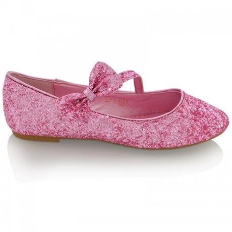 Růžové flitrované baleríny, 36-41, 40