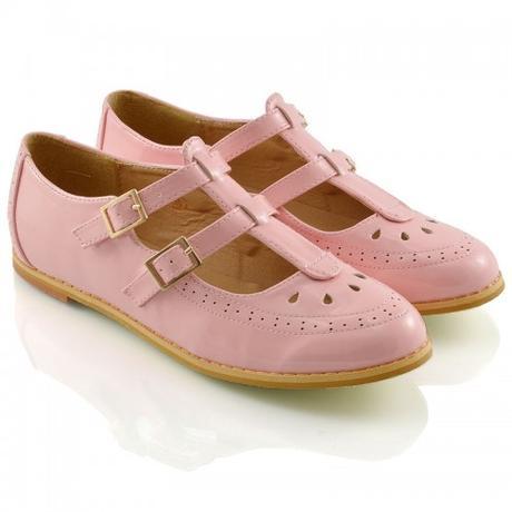 Růžové pastelové retro baleríny, lodičky, 36-41, 36
