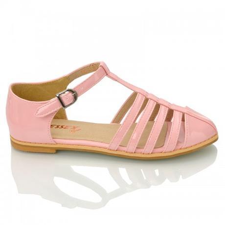 Růžové pastelové retro baleríny, lodičky, 36-41, 37