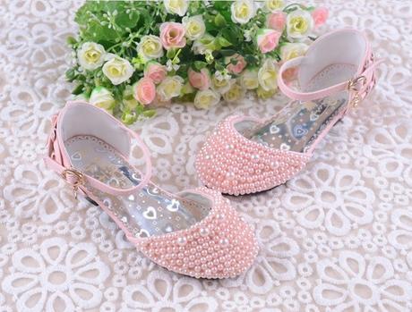 Růžové perličkové dětské boty, 26-36, 26
