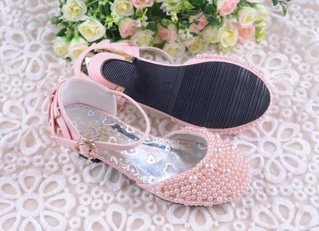 Růžové perličkové dětské boty, 26-36, 30