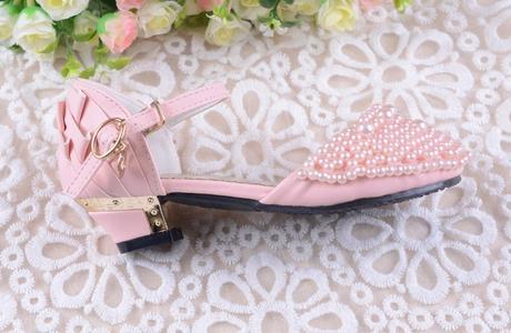 Růžové perličkové dětské boty, 26-36, 31