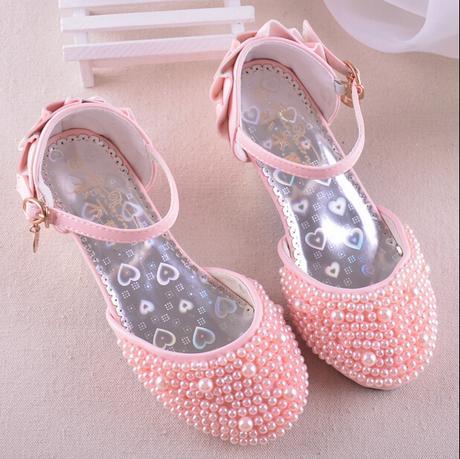 Růžové perličkové dětské boty, 26-36, 32