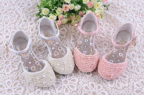 Růžové perličkové dětské boty, 26-36, 34