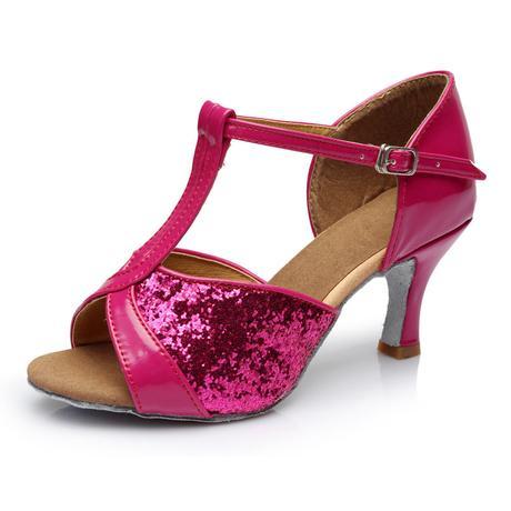 Růžové plesové, taneční sandálky, 36-41, 37