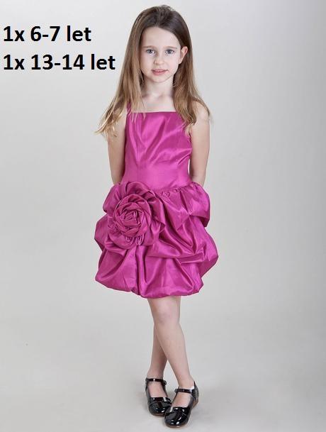 Růžové šaty k prodeji, 6-14 let, 110