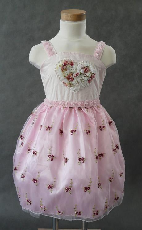 Růžové šaty pro družičky, 3-5 let, 110