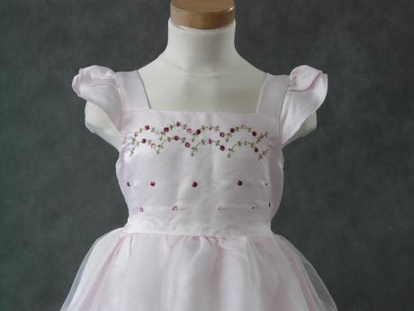 Růžové šaty pro družičky, 6-8 let, 122