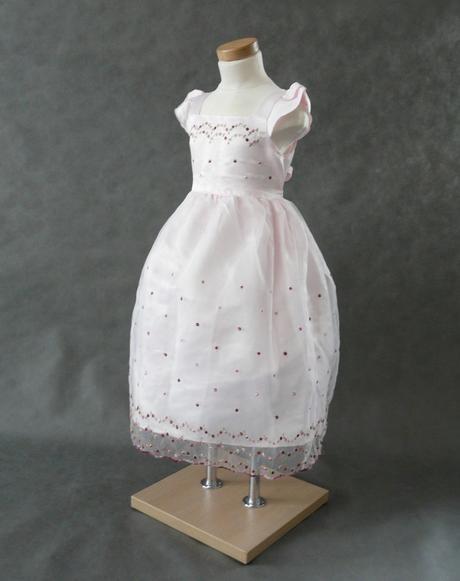 Růžové šaty pro družičky, 6-8 let, 128