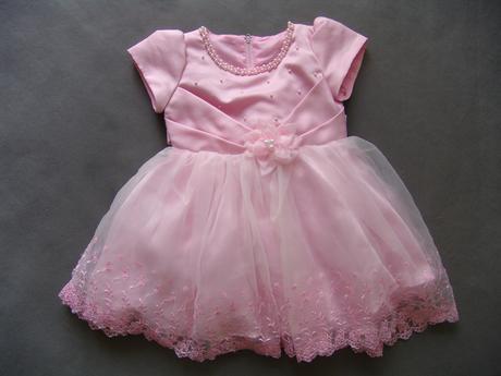 Růžové šaty pro malé princezny 1-3 roky, 98