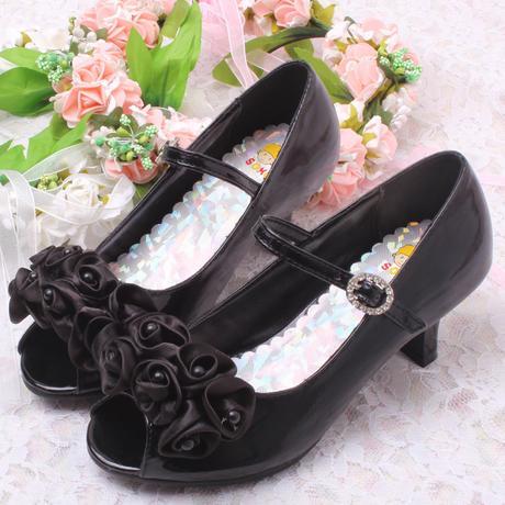 Růžové společenské boty pro družičky, 26-36, 34