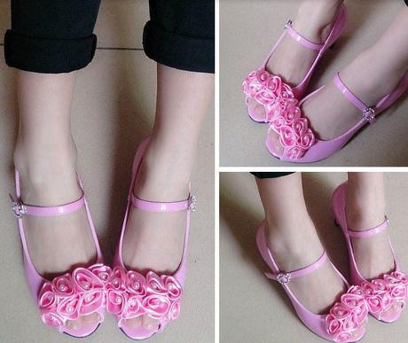 Růžové společenské boty pro družičky, 26-36, 36