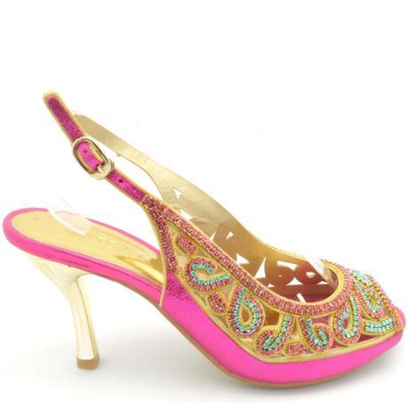 Růžové společenské, plesové sandálky, 36-41, 36