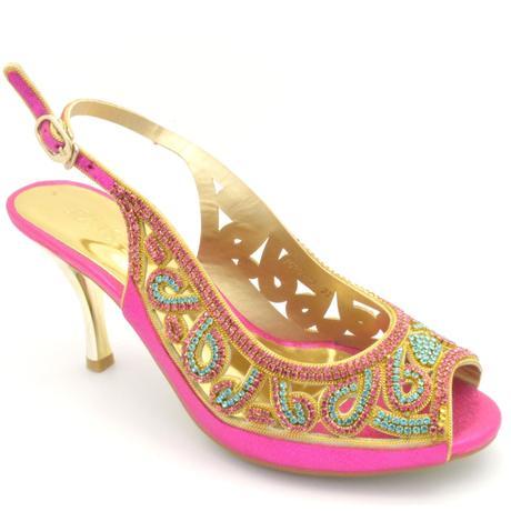 Růžové společenské, plesové sandálky, 36-41, 38