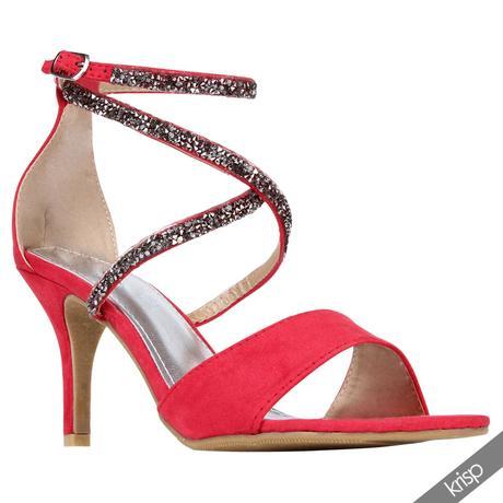 Růžové společenské, plesové sandálky, 36-41, 39