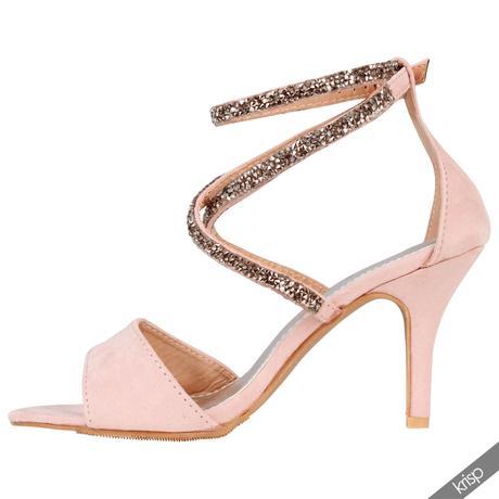 Růžové společenské, plesové sandálky, 36-41, 40