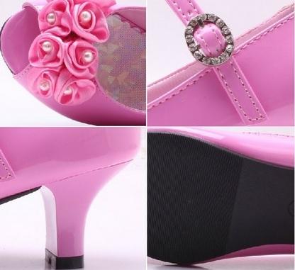 Růžové společenské sandálky, 29-35, 34