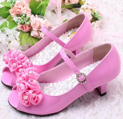 Růžové společenské sandálky, 29-35, 35