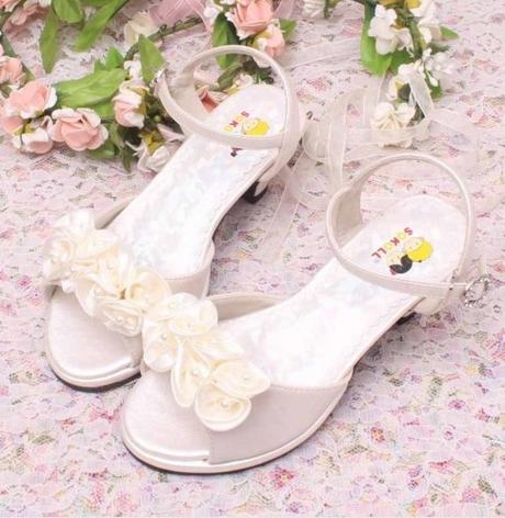 Růžové společenské sandálky pro družičky, 26-36, 27