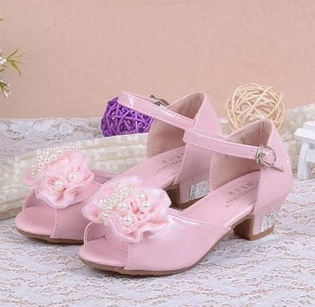Růžové společenské sandálky pro družičky, 26-37, 26