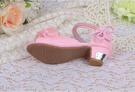 Růžové společenské sandálky pro družičky, 26-37, 29