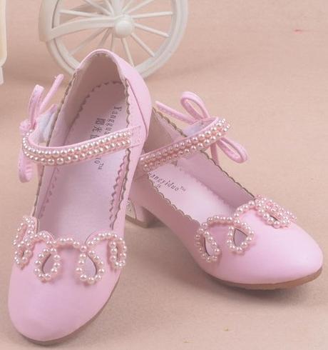 Růžové společenské sandálky pro družičky, 26-37, 33