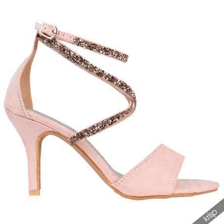 Růžové společenské, svatební sandálky, 36-41, 36