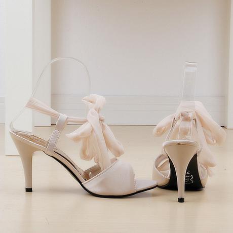Růžové společenské zavazovací sandálky, 35-39, 38