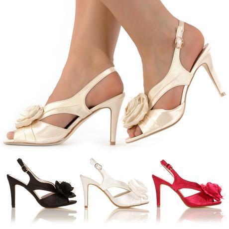 Růžové svatební sandálky, 36-41, 40