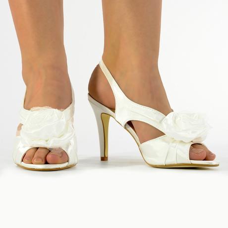 Růžové svatební sandálky, 36-41, 41