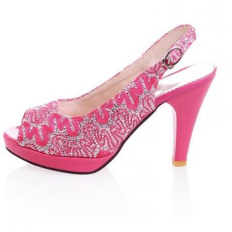Růžové svatební, společenské sandálky, 34-41, 39