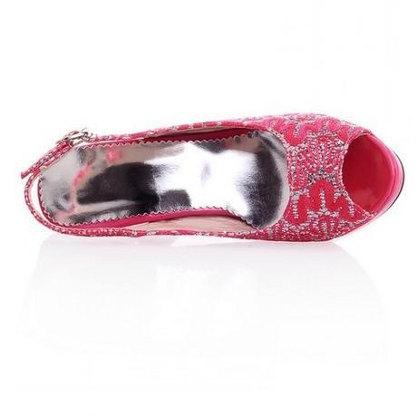 Růžové svatební, společenské sandálky, 34-41, 41