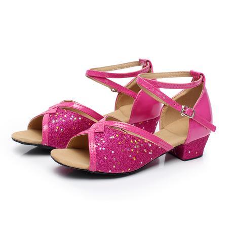 Růžovo-zlaté taneční střevíčky, 24-38, 34