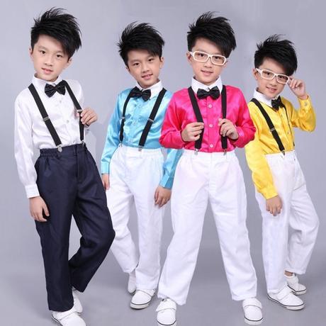 Růžový chlapecký svatební, společenský oblek, 122