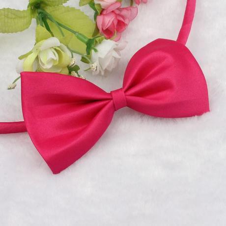 Růžový svatební motýlek,