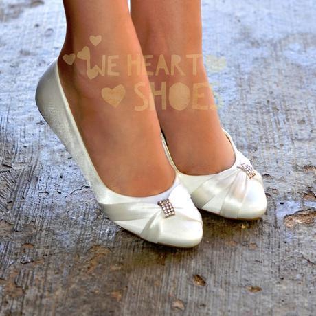Saténové svatební, společenské balerínky, 36