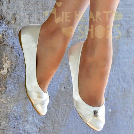Saténové svatební, společenské balerínky, 39