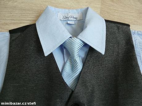 Šedý oblek k zapůjčení, 12-18 měsíců, 86
