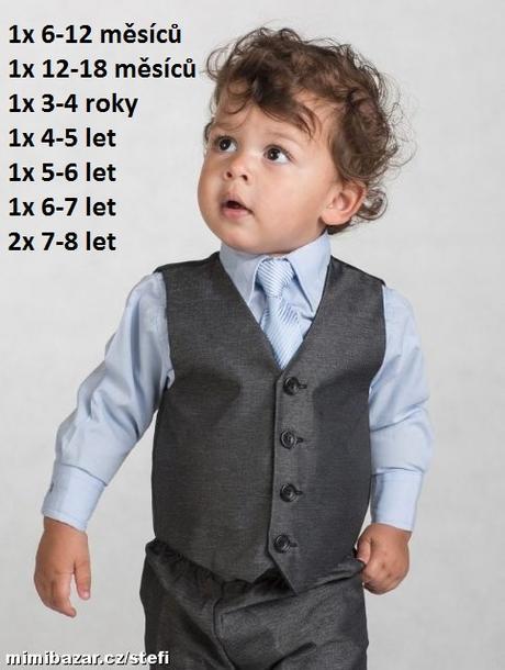 Šedý oblek k zapůjčení, 7-8 let, 134